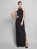 preiswerte Brautmutter Kleider-Eng anliegend Halter Boden-Länge Chiffon Formeller Abend Kleid mit Kristall Verzierung durch TS Couture®