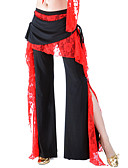 hesapli Göbek Dansı Giysileri-Göbek Dansı Alt Giyimler Kadın's Eğitim Polyester Dantel Fırfırlı Doğal Pantalonlar