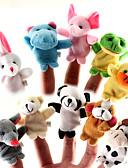 tanie T-shirt-Opowieści na dobranoc Zwierzę Pacynki na palce Kukiełki Śłodkie Słodkie Kreskówki Tekstylny Silikon Plusz Dla dziewczynek Zabawki Prezent 10 pcs