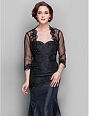 זול שמלות ערב-תחרה / טול חתונה / מסיבה / ערב כיסויי גוף לנשים עם חרוזים בולרו