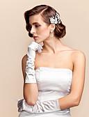 preiswerte Abendkleider-Ellenbogen Länge Fingerspitzen Handschuh Satin Brauthandschuhe Frühling Sommer Herbst Winter