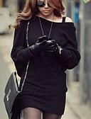 זול סוודרים לנשים-שרוול העטלף של הנשים סרוגות שמלת מיני