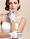 cheap Wedding Dresses-Satin / Polyester Wrist Length Glove Classical / Bridal Gloves / Party / Evening Gloves With Solid