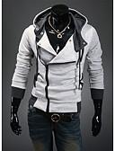 baratos Camisetas de Homem-Homens Sólido Diário Fashion Moletons com Capuz e Abrigos Com Capuz Manga Longa Algodão Primavera/Outono