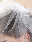 ieftine Voal de Nuntă-Voal de Nuntă Un nivel Voaluri de Obraz Margine Tăiată 10-20 εκ Tul Alb IvoriuA-line, Rochie de Bal, Prințesă, Foaie/ Coloană, Trompetă/