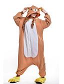 preiswerte Tanzzubehör-Erwachsene Kigurumi-Pyjamas Bär Pyjamas-Einteiler Polar-Fleece Orange Cosplay Für Herren und Damen Tiernachtwäsche Karikatur Fest / Feiertage Kostüme