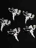 cheap Bridesmaid Dresses-10pcs black alloy rhinestone fairy angel 3d alloy nail art decoration