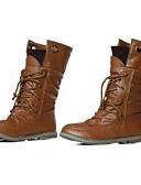 ieftine Hanorace de Damă-Pentru femei Pantofi Imitație de Piele Toamnă / Iarnă Toc Drept 20.32-25.4 cm / Cizme Medii Dantelă Negru / Galben / Verde