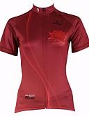 hesapli Gelin Şalları-ILPALADINO Kadın's Kısa Kollu Bisiklet Forması - Kırmzı Çiçek / Botanik Bisiklet Forma, Hızlı Kuruma, Ultravioleye Karşı Dayanıklı, Nefes