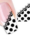 baratos Luvas-1 pcs Autocolantes de Unhas 3D Adesivo de transferência de água arte de unha Manicure e pedicure Abstracto / Fashion Diário / Etiquetas de unhas 3D