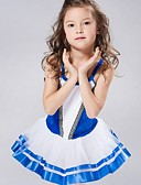cheap Ice Skating Dresses , Pants & Jackets-Kids' Dancewear / Ballet Dresses&Skirts / Tutus Spandex / Chiffon / Velvet Sleeveless