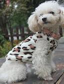 economico T-Shirt da donna-Gatto Cane Felpa Pigiami Abbigliamento per cani Leopardata Nero Pile Costume Per Primavera & Autunno Inverno Per uomo Per donna Casual