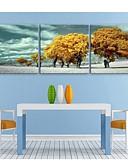 ieftine Bolerouri de Nuntă-Peisaj Botanic Trei Panouri Pătrat Imprimeu Decor de perete Pagina de decorare