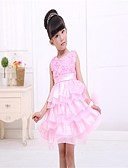 cheap Girls' Clothing-Girl's Floral Dress, Others All Seasons Sleeveless Screen Color