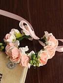 זול הינומות חתונה-פרחי חתונה עגול ורדים זר פרחים לפרק כף יד חתונה חתונה/ אירוע סאטן נייר