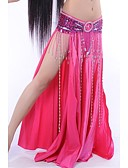 hesapli Göbek Dansı Giysileri-Göbek Dansı Etek Kadın's Performans Elastik İpek benzeri saten Doğal