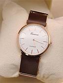 cheap Dress Watches-Geneva Men's Wrist Watch Quartz Casual Watch Leather Band Analog Minimalist Black / Orange / Brown - Black Orange Brown One Year Battery Life / Tianqiu 377