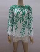 baratos Tops de Mulher-Mulheres Blusa Vintage Geométrica