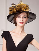cheap Mother of the Bride Dresses-Organza Hats / Headwear with Floral 1pc Wedding / Special Occasion / Casual Headpiece