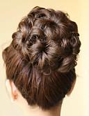 preiswerte Cocktailkleider-Schwarz Braun Accessoires Klassisch Haarknoten Updo Gute Qualität Chignons/Haarknoten Synthetische Haare Haarstück Haar-Verlängerung