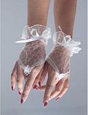 cheap Wedding Veils-Net / Polyester Wrist Length Glove Classical / Bridal Gloves / Party / Evening Gloves With Solid