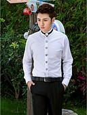 baratos Gravatas e Gravatas Borboleta-Homens Camisa Social Estiloso / Clássico / Básico Sólido Moderno
