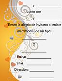 preiswerte Bauchtanzkleidung-Hochzeits-Einladungen Glatte Karte Einladungskarten Personalisiert