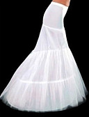 cheap Evening Dresses-Slips Mermaid and Trumpet Gown Slip Chapel Train Floor-length 3 Polyester White