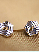 cheap Dress Watches-Women's Stud Earrings - Sterling Silver, Silver Love Simple Style, Cute Silver For Party / Daily / Casual