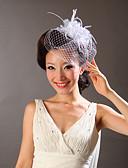 Χαμηλού Κόστους Πέπλα Γάμου-Τούλι / Φτερό Γοητευτικά / Λουλούδια με 1 Γάμου / Ειδική Περίσταση Headpiece