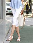 abordables Tops-Mujer Ajustado Pantalones - Un Color, Color puro