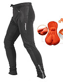 cheap Cycling Pants, Shorts, Tights-Jaggad Men's Cycling Pants - Black Bike Pants / Trousers / Tights, 3D Pad, Thermal / Warm, Quick Dry, Winter / Breathable / Breathable / Reflective Strips