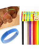 baratos Vestidos Longos-Gato Cachorro Colarinho Marcadores de Identidade Retratável Arco-Íris Náilon Arco-Íris