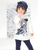 Χαμηλού Κόστους Βρεφικά φορέματα-Νήπιο Κοριτσίστικα Animal Print Κοντομάνικο Σετ Ρούχων Χρώμα Οθόνης