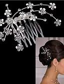preiswerte Kopfbedeckungen für Damen-Damen Party, Kubikzirkonia / versilbert / Aleación Haar-Stab Solide / Niedlich