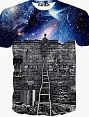 cheap Men's Hoodies & Sweatshirts-Men's Sports Cotton T-shirt Print / Short Sleeve