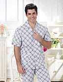 cheap Men's Underwear-Songmei Summer Pajamas Cotton Short Sleeve Contracted Leisure Leisurewear Suit