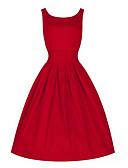 tanie W stylu vintage-Damskie Vintage Bawełna Spodnie - Solidne kolory Czerwony, Pofałdowany Zieleń wojskowa / Impreza