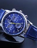 baratos Relógio Elegante-Mulheres Relógio de Pulso Quartzo Relógio Casual PU Banda Analógico Amuleto Casual Preta / Branco / Azul - Café Vermelho Azul