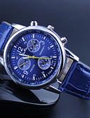 baratos Relógio Elegante-Mulheres Relógio de Pulso Relógio Casual PU Banda Amuleto / Casual Preta / Branco / Azul