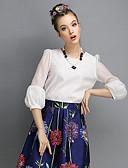 billige T-shirt-Dame - Ensfarvet I-byen-tøj Bluse / Forår