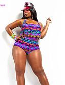 abordables Biquinis y Bañadores para Mujer-Mujer Bikini - Estampado, Geométrico Halter / Relleno / Sujetador Acolchado / Sujetador con Soporte / Sujetador sin Acolchado / Borlas