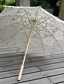 preiswerte Hochzeitsschirme-Post-Handle Spitze Hochzeit Alltag Maskerade Strand Regenschirm Regenschirme ca.78cm