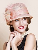 cheap Fashion Scarves-Women's Vintage Party Linen Sun Hat - Solid Colored