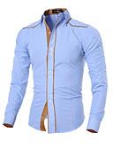 baratos Camisas Masculinas-Homens Camisa Social Negócio Sólido Algodão Colarinho Clássico Delgado