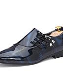 halpa Miesten paidat-Miesten Tekonahka Kevät / Kesä Comfort Oxford-kengät Kävely Purppura / Ruskea / Sininen