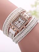 cheap Fashion Watches-Xu™ Women's Quartz Bracelet Watch Casual Watch Fabric Band Bohemian Pearls Fashion Black White Blue Silver Brown Pink Purple Beige