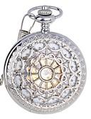 رخيصةأون ساعات فاخرة-للرجال ساعة جيب ووتش الميكانيكية داخل الساعة أتوماتيك 30 m مقاوم للماء نقش جوفاء ستانلس ستيل فرقة مماثل ترف فضة - فضي