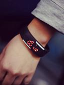 cheap Fashion Watches-Couple's Bracelet Watch Rubber Band Fashion / Elegant Black / White / Blue