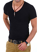 cheap Men's Tees & Tank Tops-Men's Sports Work Plus Size Cotton Slim T-shirt - Solid Colored